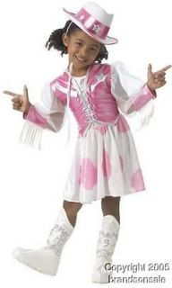 Childs Barbie Cowgirl Girls Halloween Costume Med