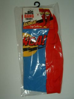 The Big Bang Theory Tv Show Blue Bazinga Costume Cape Knee High Socks