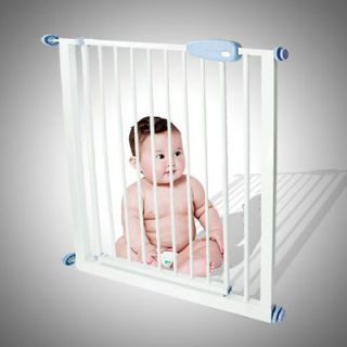 Expandable Baby Pet Dog Puppy Safety Gate Door Barrier Fence Metal