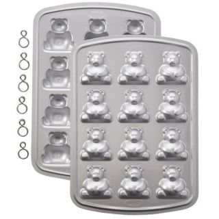 WILTON 3 D MINI TEDDY BEAR PAN LOLLIPOP CAKE MOLD