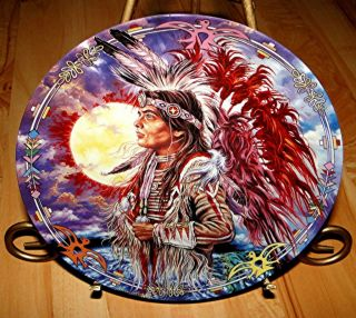 franklin mint plate american indian