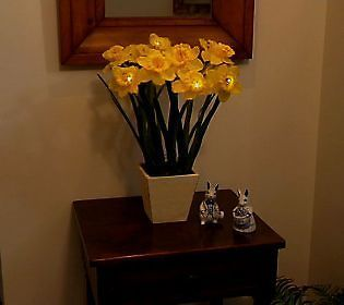 Bethlehem Lights Battery Operated 18 Potted Daffodils with Timer