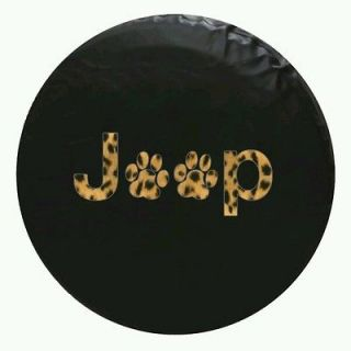 Jeep Spare Tire Cover Paw Print ( Fits 33x13 inch tire) Leopard