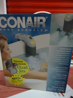 NEW,CONAIR BODY BENEFIT Deluxe BATH SPA / Model BTS2
