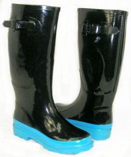 SO CUTE Flat GALOSHES WELLIES RUBBER RAIN Boot Riding Hunter Style