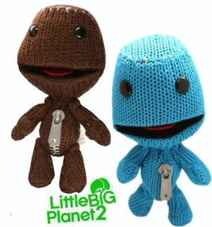 2X Little Big Planet Sackboy PS3 Action Figure Plush Doll 7 Blue
