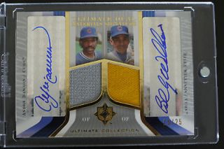 Deck Ultimate Dual Auto Jersey Andre Dawson & Billy Williams #15/25