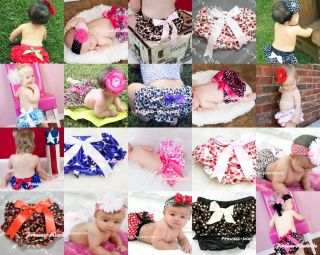 Infant Baby Girl Satin Bloomer Pantie Brief Pant with Bows For