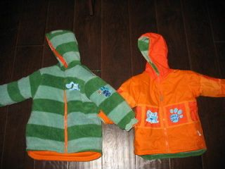 Blues Clues Steve Joe Winter Coat Jacket Reversible 2T Toddler Kids *