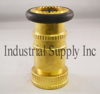 NPT Brass Fire Hose Nozzle w/Bumber Made in USA