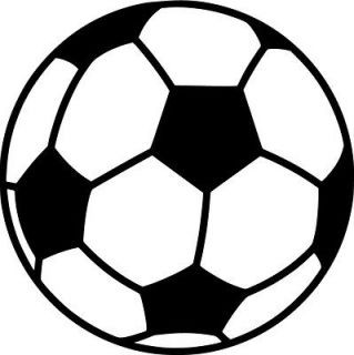 Soccer Ball Vinyl Sticker Decal Sports   Choose Size & Color