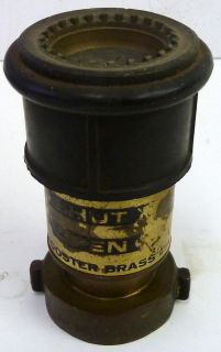 Wooster Brass NIF CP 15 NH Fire Hose Nozzle 2 Hose