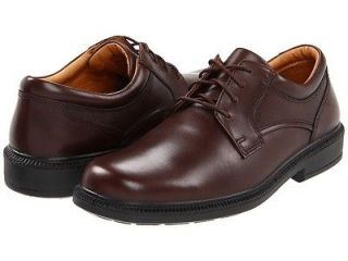 Mens Hush Puppies Strategy Brown Leather Shoe Lace Up Oxford H10707