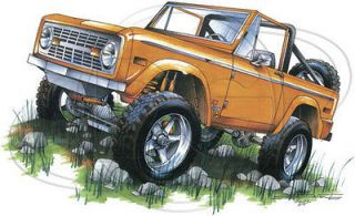 Ford Bronco Shirt Classic Ford Orange Bronco 4 Wheeler Truck T Shirt