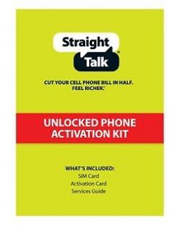Straight Talk STANDARD SIM Card for AT&T Iphone 3G 3GS Unlocked GSM