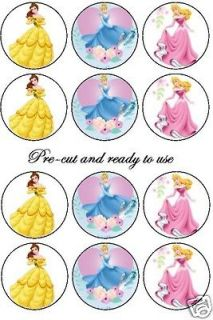 CUT Disney princess 2 edible cake decoration toppers, Birthday girl