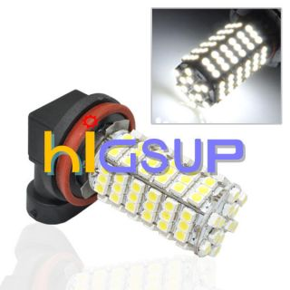Car H11 120 SMD LED White Car Fog Head Light Bulb Lamp US Shipping