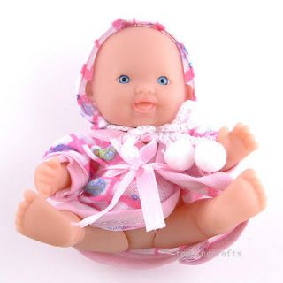 Polyethylene Reborn Lifelike Baby Doll With Pink Clothes T8605