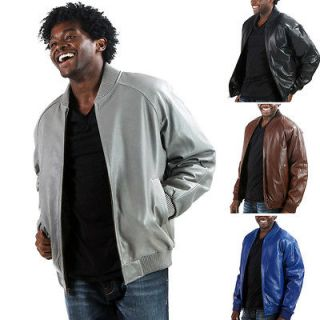United Face Mens New Premium Leather Hip Hop Bomber Baseball Jacket