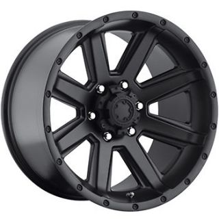 Black Ultra Crusher Wheels 8x6.5  6 Lifted CHEVROLET C 2500 DODGE