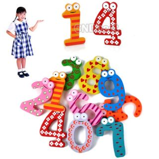 Magne For Baby Toys 2012 10Pcs Wooden Figures Refrigerator Magnetic