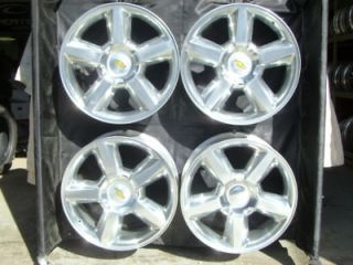 20 INCH SILVERADO TAHOE NEW FACTORY POLISHED CHEVROLET WHEELS 5308