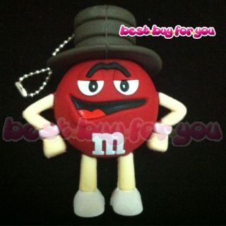 Red M&Ms Chocolate chips shape 4GB USB Flash Pen Drive Memory Stick