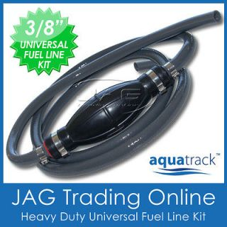 UNIVERSAL OUTBOARD FUEL LINE & BULB  10mm ID UV Stabilised Boat
