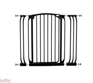 New Dreambaby Black Extra Tall Swing Gate + 2 Extentions Baby Dog Pet