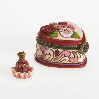 Jim Shore/Boyds Bears Valentine Heart Candy Box w/Bear ~ 4026266