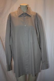BARNEYS New York 17 1/2L Mens 100% Cotton Shirt MADE IN ITALY