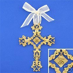 50th Wedding Anniversary Gift   Cross Ornament