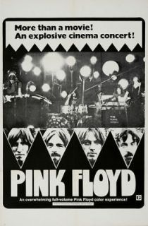 Pink Floyd Live at Pompeii 1971 cult music movie poster print