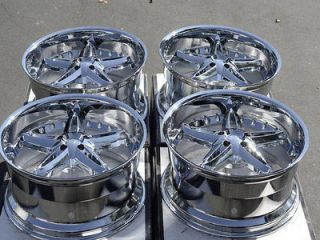 22 5X115 Chrome Wheels Dodge Challenger Charger Magnum Chrysler 300C
