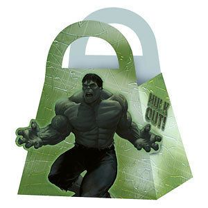 The INCREDIBLE HULK 2 ~(4) Party Favor TREAT BOXES ~Birthday Party