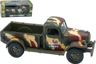 1946 Dodge Power Wagon USMC Diecast Truck Die Cast Marine Corps