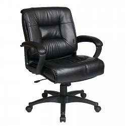 Back Executive Glove Soft Leather Chair   by Office Star   EX5161 G13