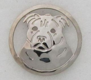 Staffordshire Bull Terrier Jewelry Silver Pin by Touchstone