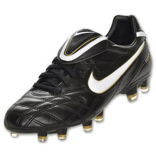 NIKE TIEMPO LEGEND III FG FIRM GROUND SOCCER SHOES RONALDINHO BLACK