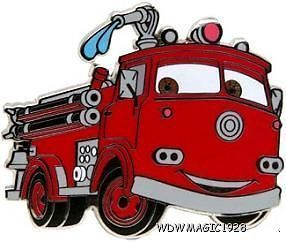 Newly listed Disney CARS 2 Red Rescue Fire Truck Engine Pin