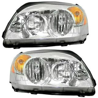 New Pair Set Headlight Headlamp Housing Assembly SAE DOT 06 08 Buick