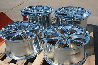 Chrome Corvette Spyder Wheels Rims 2005 2013 C6 LS2 LS3 GM Caps Chrome