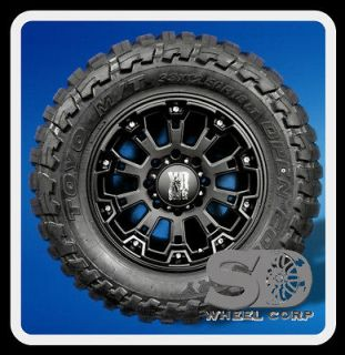 18 XD800 MISFIT BLACK RIMS WITH 33X12.50X18 TOYO OPEN COUNTRY MT