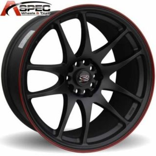 ROTA TORQUE 18X9.5 5X120 +30 BLACK RED LIP RIM WHEELS
