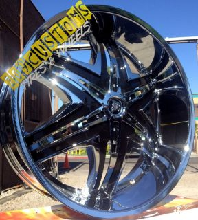 24 inch RIMS WHEELS TIRES DIABLO ELITE CHROME 6X139 7 CHEVROLET TAHOE