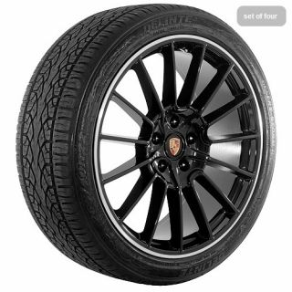 22 inch Black Porsche 2011 Cayenne Wheels Rims and Tires