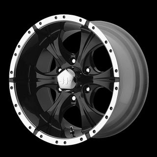 MAXX GLOSS BLACK W 33X12 50X18 NITTO MUD GRAPPLER MT TIRES WHEELS RIMS