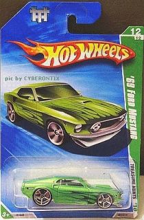 2010 Hot Wheels Treasure Hunt #12 69 Ford Mustang US LONG CARD MOMC