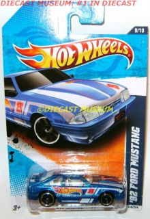 1992 92 Ford Mustang Blue Hot Wheels Diecast 2011