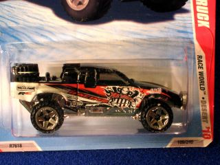 HOT WHEELS 2010 TOYOTA OFF ROAD TRUCK BLACK HOT WHEELS RACING LOGO